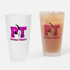 PT camo pink Drinking Glass