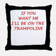 trampoline Throw Pillow