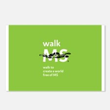 Green- Walk MS logo Postcards (Package of 8)