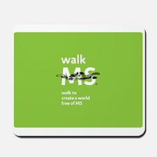 Green- Walk MS logo Mousepad