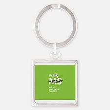 Green- Walk MS logo Keychains