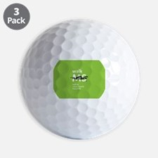 Green- Walk MS logo Golf Ball