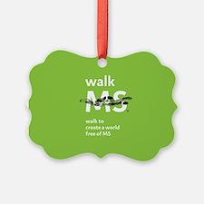 Green- Walk MS logo Ornament