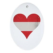 Austria heart Ornament (Oval)