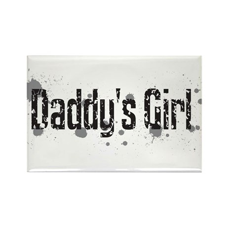Grunge Daddy's Girl Text Graphic Rectangle Magnet