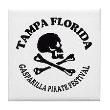 Tampa Florida - Pirate Design. Tile Coaster
