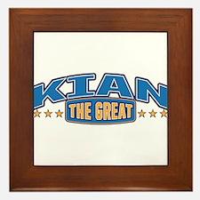 The Great Kian Framed Tile