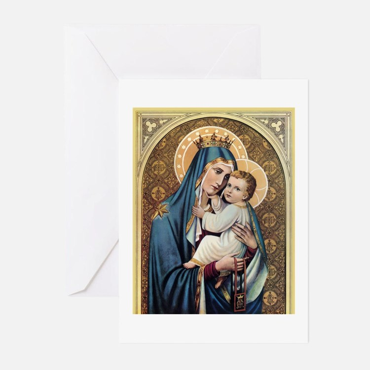 Cute Blessed virgin Greeting Cards (Pk of 10)