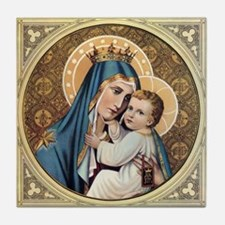 Cute Our lady Tile Coaster