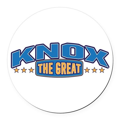 The Great Knox Round Car Magnet