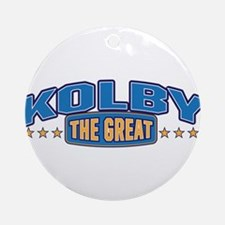 The Great Kolby Ornament (Round)