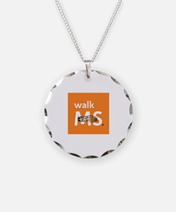 Walk MS One foot print Necklace