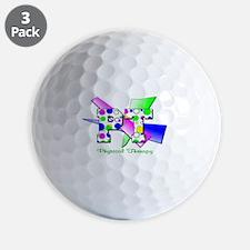 Circles and Dots Golf Ball