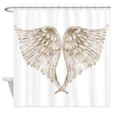 Golden Angel Shower Curtain