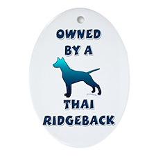 Thai Silhouette Oval Ornament