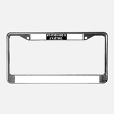 Funny World License Plate Frame