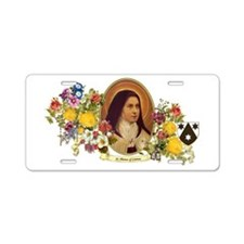St. Therese of Lisieux Aluminum License Plate