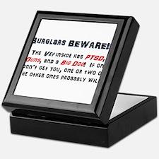 Burglars Beware!!! Keepsake Box