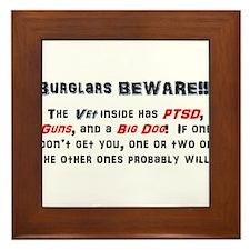 Burglars Beware!!! Framed Tile