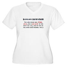 Burglars Beware!!! T-Shirt