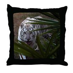 White Tiger 2 Throw Pillow