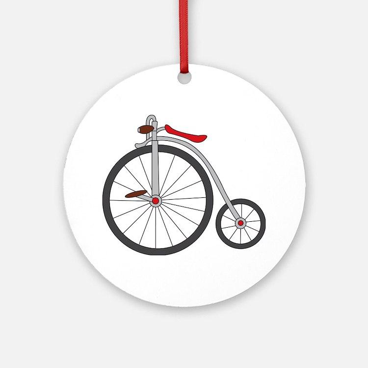 Vintage Bicycle Ornament (Round)