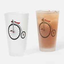 Vintage Bicycle Drinking Glass