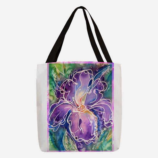 Iris! Beautiful, purple flower, Polyester Tote Bag