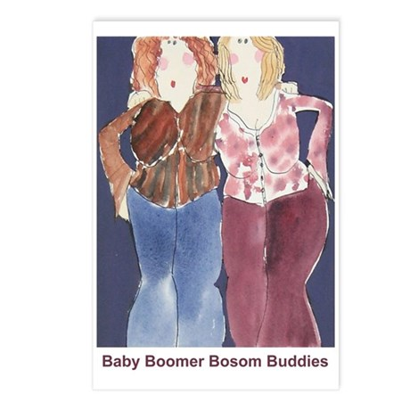 babyboomer bosombuddies postcards