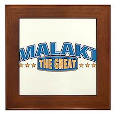 The Great Malaki Framed Tile