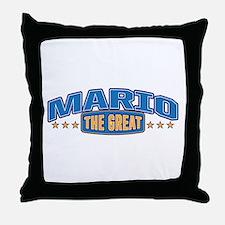 The Great Mario Throw Pillow