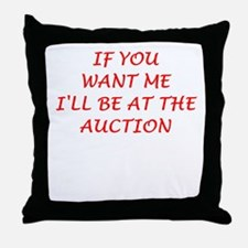 auction Throw Pillow