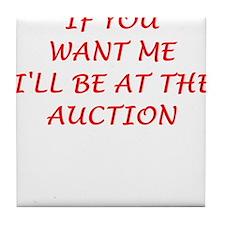 auction Tile Coaster