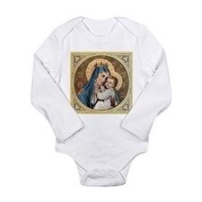 Cute Religious catholic Long Sleeve Infant Bodysuit