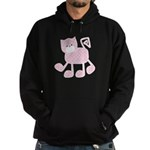 Cute Pink Kitty Cat With Spots Hoodie