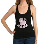 Cute Pink Kitty Cat With Spots Racerback Tank Top