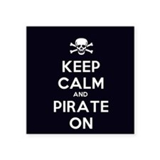 Keep Calm and Pirate On Sticker