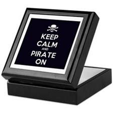 Keep Calm and Pirate On Keepsake Box