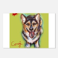 Welsh Corgi Love Heart Postcards (Package of 8)