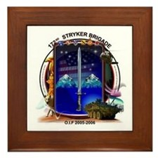 172nd Stryker Brigade 2-1 inf Framed Tile