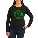 irish pride not racist symbol Women's Long Sleeve