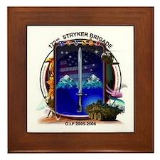 172nd Stryker Brigade Framed Tile