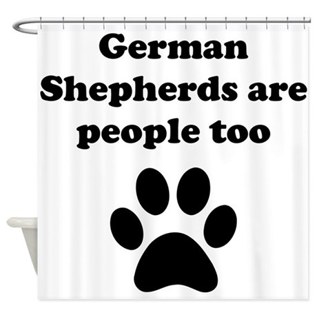 German shepherds are people too shower curtain by for German made bathroom accessories