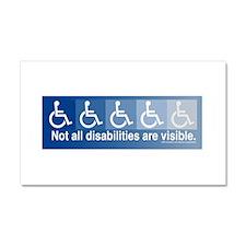 Unique Disability rights Car Magnet 20 x 12