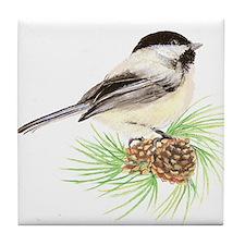 Chickadee Pine.png Tile Coaster