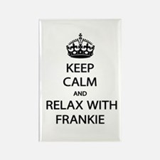 Relax With Frankie Rectangle Magnet