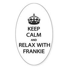 Relax With Frankie Decal