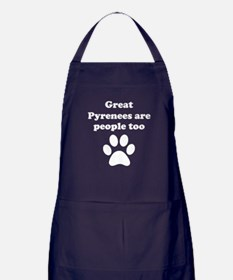 Great Pyrenees Are People Too Apron (dark)