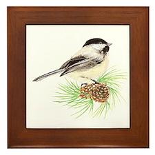 Chickadee Pine.png Framed Tile