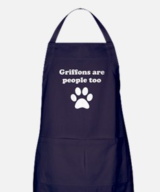 Griffons Are People Too Apron (dark)